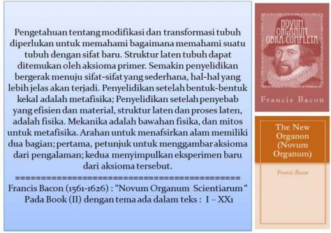 Tulisan Bacon Novum Organum Scientiarum