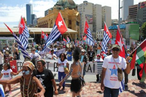 Foto melalui kampanye Papua Barat Gratis
